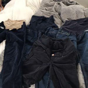 Maternity jeans bundle!!!